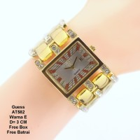 Jam tangan wanita / jam tangan Murah Guess Sandra Gold In Silver   Box
