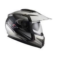 KYT ENDURO #1 Helm Full Face - Black White Pearl Gold