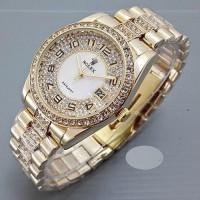 Jam Tangan Wanita Rolex Romawi Full Diamond