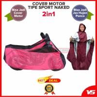 KA Body Cover Motor Selimut Motor Sarung Motor 2in1 Jadi Jas Hujan Ti