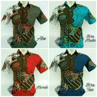 Model Baju Kemeja Batik Modern Pria / Baju Lebaran Murah Saloka