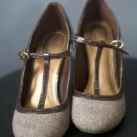 Dexflex Comfort Black Mary Jane T-Strap Heels Shoes