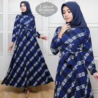 jual busana muslim wanita gamis kerja gamis crepe maxi dress kantor