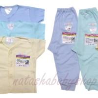 Libby Set Baju Pendek dan Celana Panjang Warna sz 0-3m