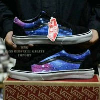 sepatu sneakers pria vans authentic motif galaxy waffle icc