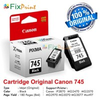 Cartridge Canon PG745 Black, Printer MG2470 MG2570 IP2870 Original