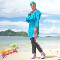 Baju Renang Muslimah Sporte Modest Premium MP Blue Lavender S-XL