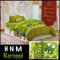 Bed cover set + Sprei motif anak Keropi Ukuran King size (180X200)