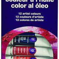 Reeves Oil Colour Paint Tube Set , 10ml - 12 Pack