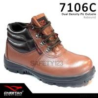 Sepatu Safety Shoes Cheetah 7106C Brown Coklat