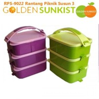 Rantang Piknik Susun Golden Sunkist RPS 9022 - Rantang 3 Susun