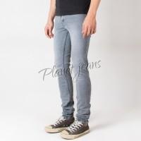 JUAL celana gaul jeans panjang skinny pria blue washed Denim skiny wa