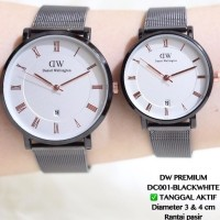 Jam Tangan Couple Guess Pasangan Rantai Tali Pasir New Model Grosir