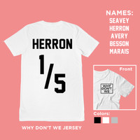 MODEL BAJU TERBARU 2018 Why Don't We Jersey Putih | Kaos T-shirt