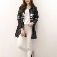 Harga baju murah kemeja baseball art atasan luaran coat jaket pakaian | Pembandingharga.com
