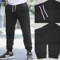 celana jeans/ Celana HnM Jogger Joggerpants Black Basic Sweatpants H&M