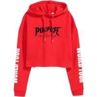BAJU WANITA ATASAN Crop hoodie Purpose Tour World tour PREMIUM