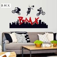 Wallsticker Wall Sticker BMX Balap Salto Sepeda