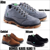 Sepatu safety boot king Crocodile kulit asli