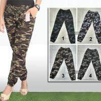 Celana Joger Motif Loreng Allsize Kecil, Jogger Pants Army / Doreng