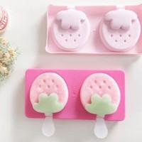Cetakan Es krim Es loli lolipop Bentuk Strawberry Ice pop maker HPD069
