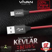 Kabel Data USB Type C Fast Charge 3A Vivan KC120 ORIGINAL