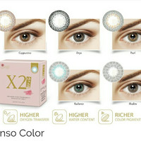 x2 sanso softlens warna kadar air tinggi mata sensitif ready minus