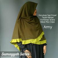 Jilbab Segi Empat Renda Sumayyah Series