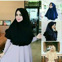 Jual hijab simple pet rempel rample rufle antem jilbab instan dayli cantik1 Murah