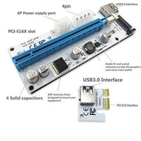 PCI RISER X16 X1 MINING VGA GPU nvidia amd gtx miner rig led pcie 008S
