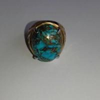 batu cincin Virus serat emas