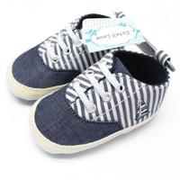 Sepatu Bayi Laki laki Prewalker Abu Putih Garis Catell Love Model Tali
