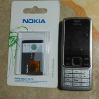 hp gsm Nokia 6300 seken murah plus batre baru/bisa nego