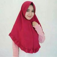 Jual hijab simple pet rempel rample rufle antem jilbab instan dayli cantik Murah