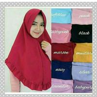 Jual hijab simple pet rempel rample rufle antem jilbab instan dayli cantik3 Murah