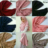 Jual hijab simple pet rempel rample rufle antem jilbab instan dayli cantik2 Murah
