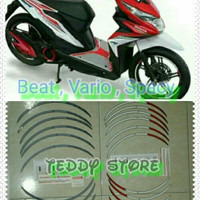 Wheel Rim Sticker Stickers Stiker Velg Honda Beat, Scoopy Karbu,