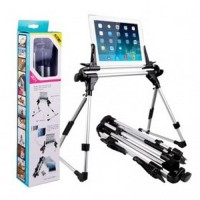 Lazypod Flexible Foldable Tablet PC Smartphone Stand - Black