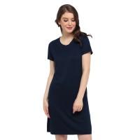 LEMONE Tumblr Tee/ Kaos Cewe Premium/ Dress Wanita Polos-Biru Dongker