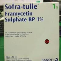 SOFRA TULLE FRAMYCETIN SULPHATE BP 1 PERSEN 10 cm x 10 cm