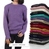 Nanas sweater   sweater rajut   baju rajut   rajutan   grosir sweater
