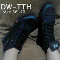 Sepatu Sekolah SD SMP SMA Warna Hitam Boot Tali Murah D Berkualitas