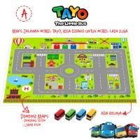 Mainan Maps Jalanan Mobil Bis Bus Tayo / Cars / Hotwheels - Edukasi