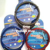 Harga cable lock kunci gembok rantai helm kabel pengaman sepeda motor | WIKIPRICE INDONESIA