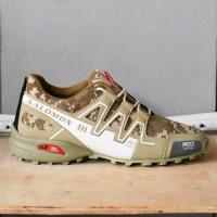 SPECIAL Sepatu Sport Adidas Salomon Speed Cross Army Camo Tan Putih O