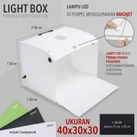 LIGHTBOX FOTO STUDIO MINI PORTABLE MAGICBOX UKURAN 40X30X30cm