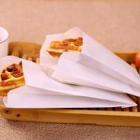 Kemasan Paper Bag Flat Flatbag Polos Fried Chicken Crispy Waffle Roti