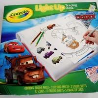 Crayola Disney Pixar CARS 2 Light Up Tracing Desk Kit