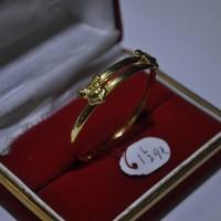 Gelang emas kuning bayi emas 70 berat 1 5 gram Gold bangle for baby