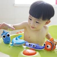 Set 4 Kid Bath Toys Nemo Baby Shark Mainan Hewan Plastik Model Nemo
